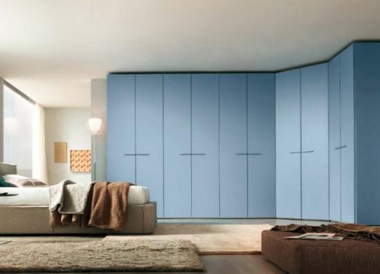 шкаф распашной голубой