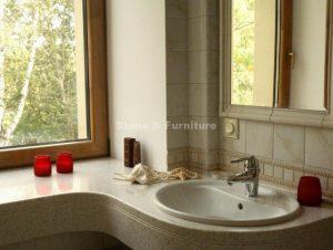 Столешница для ванной из искуственного камня