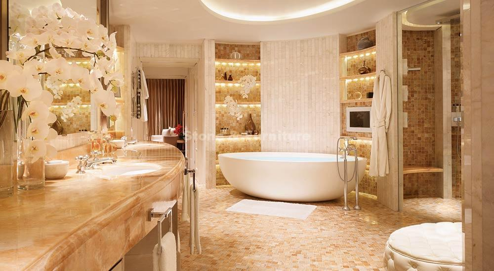 Кварцит в ванной