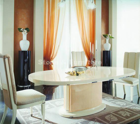 Кремовый стол из искусственного камня