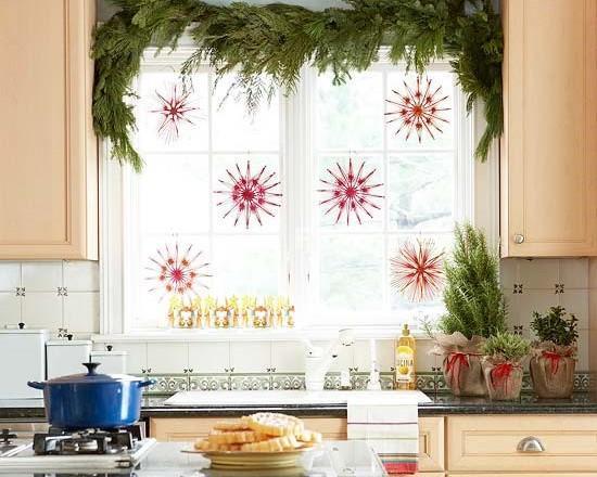 Украшение окон в кухне